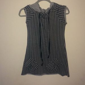 Black and gray houndstooth dress/tunic